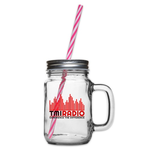 NEW TMI LOGO RED AND BLACK 2000 - Glass jar with handle and screw cap