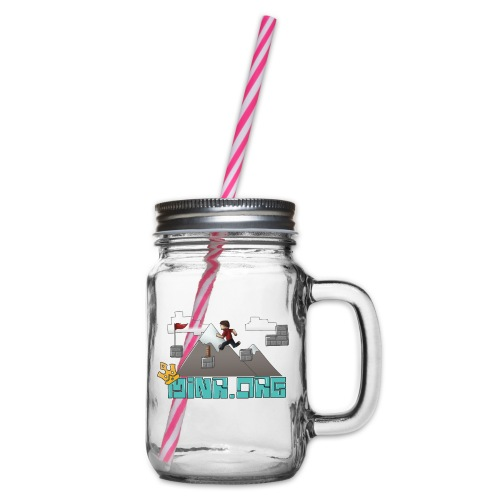 Minr.org Logo - Glass jar with handle and screw cap