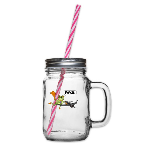 Amazing Frog Crossbow - Glass jar with handle and screw cap