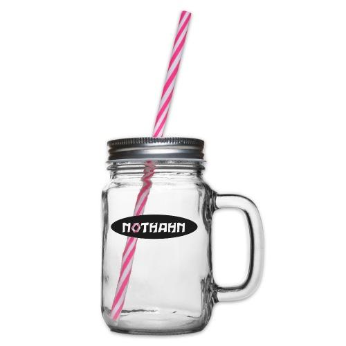 nothahn - Henkelglas mit Schraubdeckel