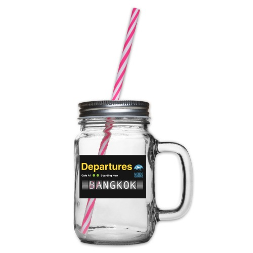 Departures BANGKOK jpg - Boccale con coperchio avvitabile