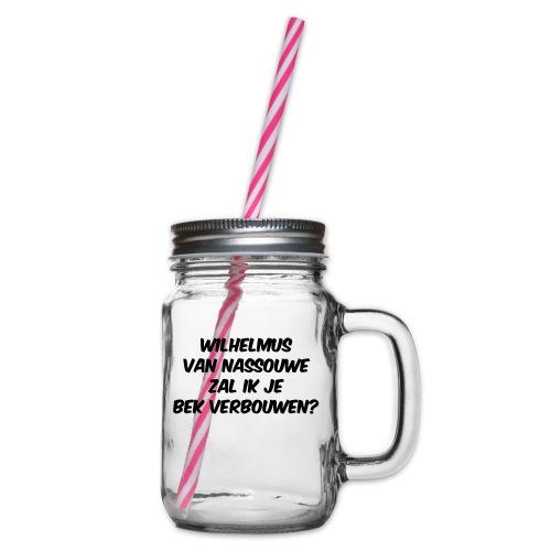 Wilhemus rijmpje - Drinkbeker met handvat en schroefdeksel