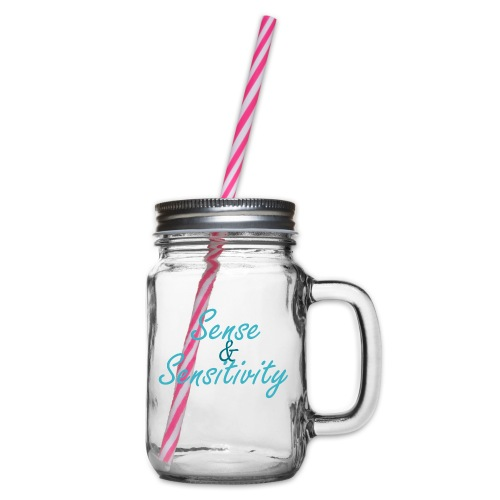 Sense & Sensitivity mug - Glass jar with handle and screw cap