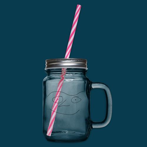 Chabisface Fast Happy - Henkelglas mit Schraubdeckel