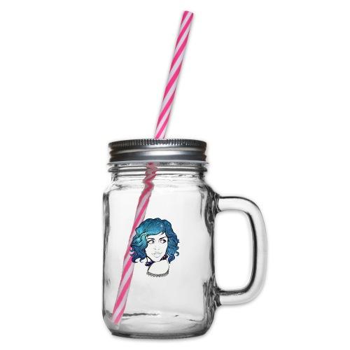 Portrait galaxie bleu - Bocal à boisson