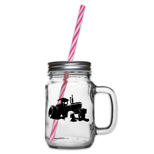 JD4840 - Glass jar with handle and screw cap