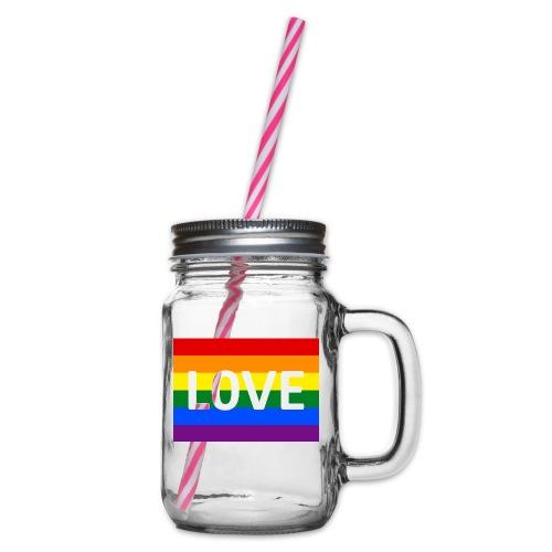 LOVE SHIRT - Drikkekrus med skruelåg