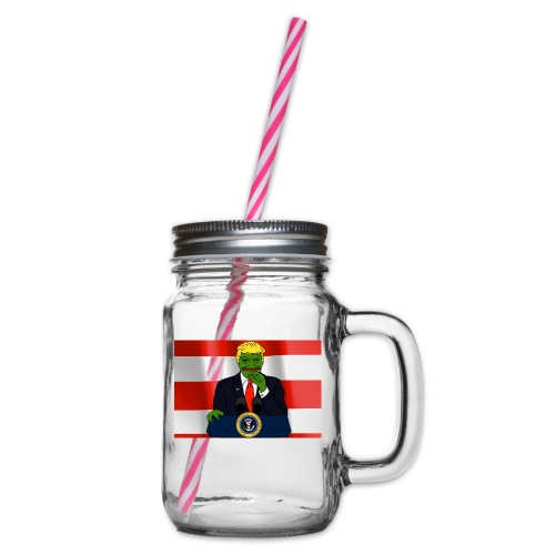 Pepe Trump - Glass jar with handle and screw cap