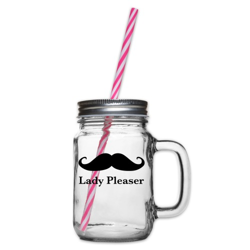 Lady Pleaser T-Shirt in Green - Glass jar with handle and screw cap