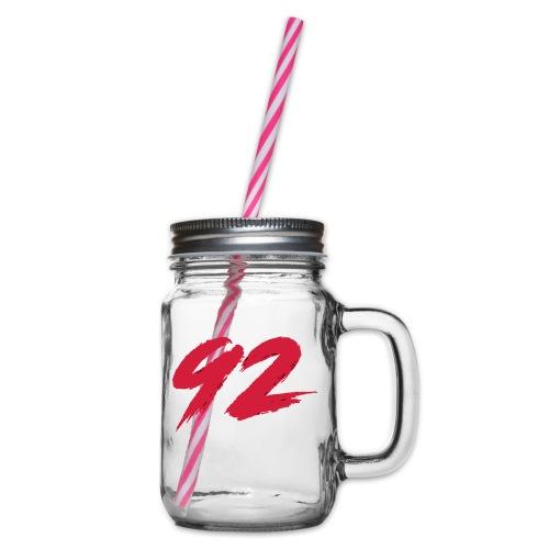 92 Logo 1 - Henkelglas mit Schraubdeckel
