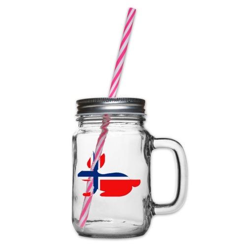 norwegian bunny - Glass jar with handle and screw cap