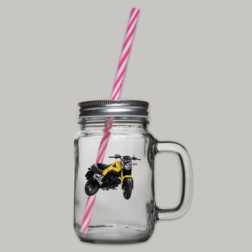 Grom Motorcycle (Monkey Bike) - Glass jar with handle and screw cap