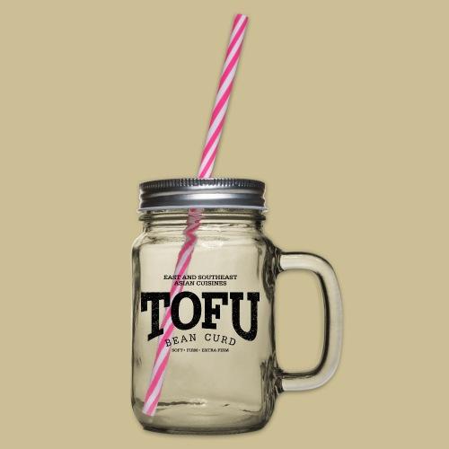 Tofu (black oldstyle) - Henkelglas mit Schraubdeckel