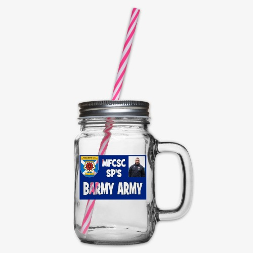 Barmy Army - Glass jar with handle and screw cap