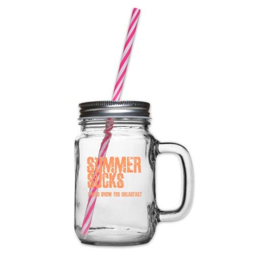 SUMMER SUCKS - Drinkbeker met handvat en schroefdeksel