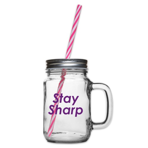Stay Sharp - Boccale con coperchio avvitabile