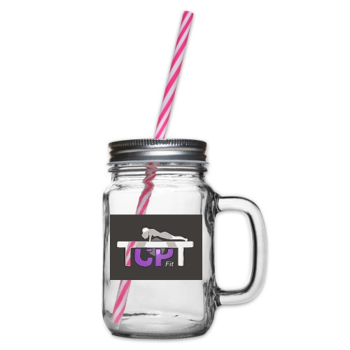 TCPTFit - Glass jar with handle and screw cap
