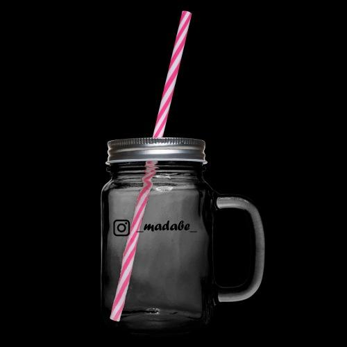 madabe instagram - Henkelglas mit Schraubdeckel