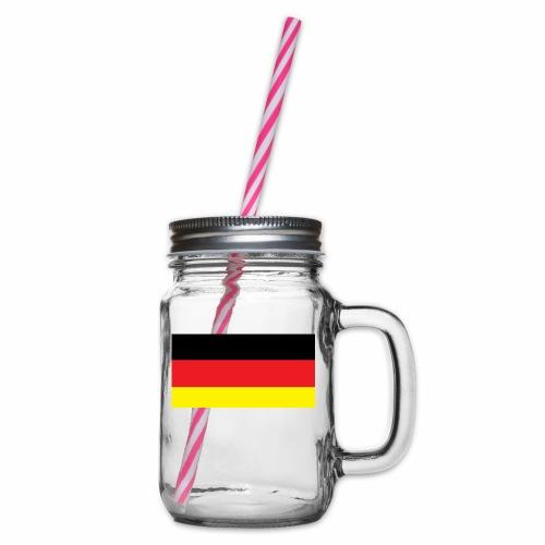 Deutschland Weltmeisterschaft Fußball - Henkelglas mit Schraubdeckel
