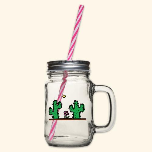 Cactus - Boccale con coperchio avvitabile