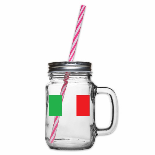 Italien Fußball - Henkelglas mit Schraubdeckel