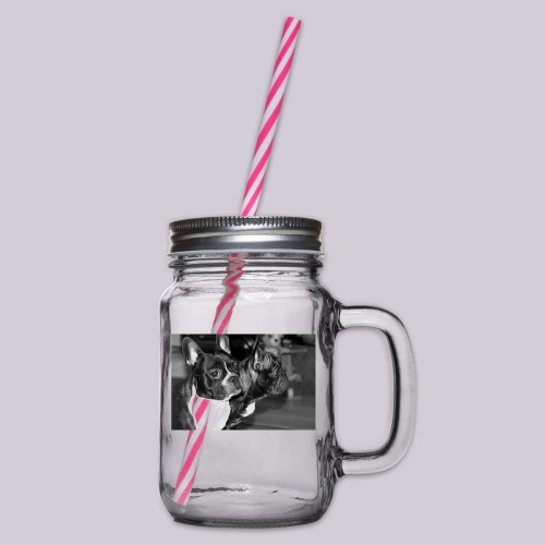 Frenchies - Glass jar with handle and screw cap
