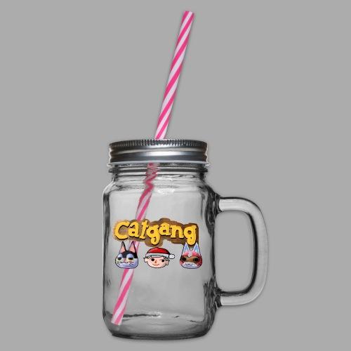 Animal Crossing CatGang - Henkelglas mit Schraubdeckel
