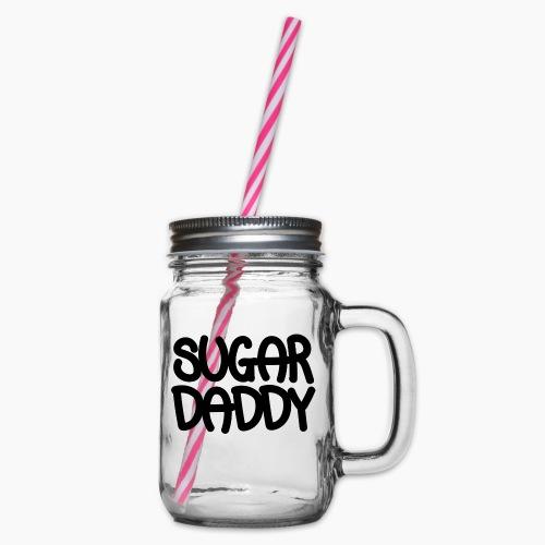 Sugar Daddy Zwart - Drinkbeker met handvat en schroefdeksel