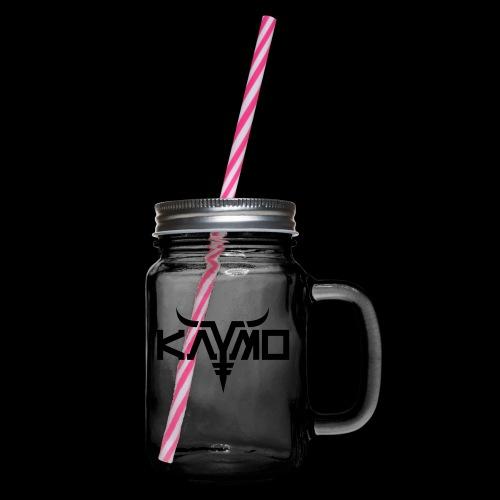 KayMo Logo - Glass med hank og skrulokk