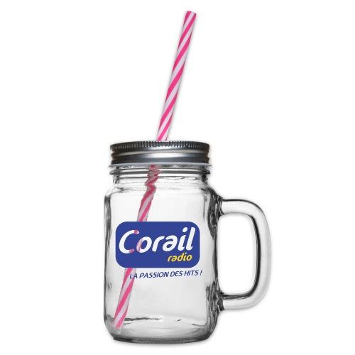 Logo bleu - Bocal à boisson