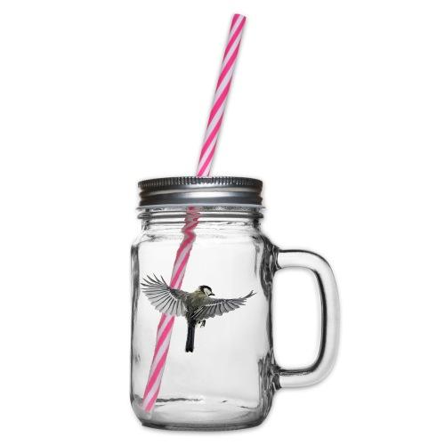 Vogel - Henkelglas mit Schraubdeckel