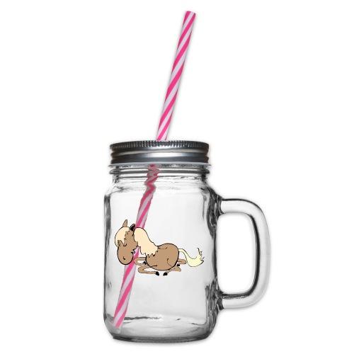 dpferd10 - Henkelglas mit Schraubdeckel