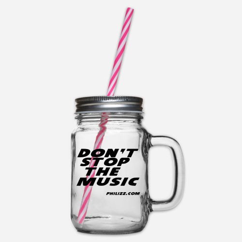 dontstopthemusic - Glass jar with handle and screw cap