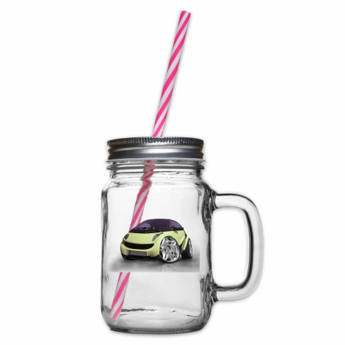 Smart, For two, Auto, Tuning, lustig - Henkelglas mit Schraubdeckel