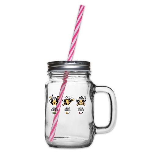 Babyindikator - Henkelglas mit Schraubdeckel