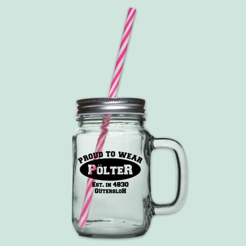 Pölter - Henkelglas mit Schraubdeckel