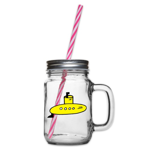 Submarine - Glass jar with handle and screw cap