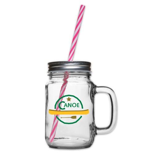 Kanu Logo - Henkelglas mit Schraubdeckel