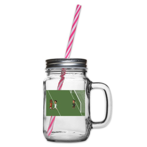 Backheel goal BG - Glass jar with handle and screw cap
