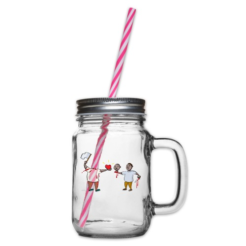 Forgiveness - Glass jar with handle and screw cap