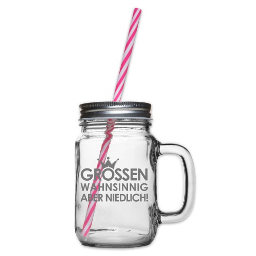 Weltkanzlerin® Frauen Premium Langarmshirt - Henkelglas mit Schraubdeckel