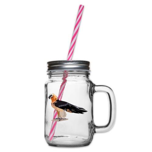 Bartgeier - Henkelglas mit Schraubdeckel