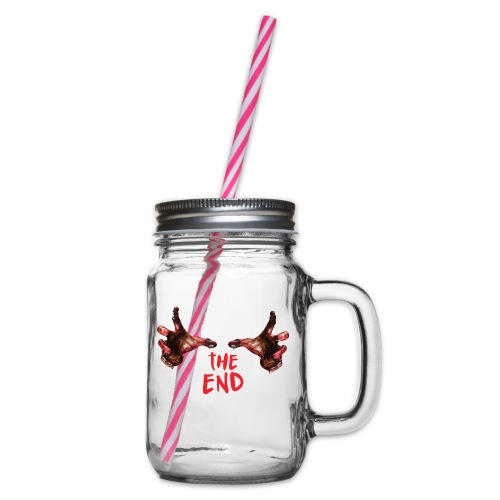 the end - Glass jar with handle and screw cap