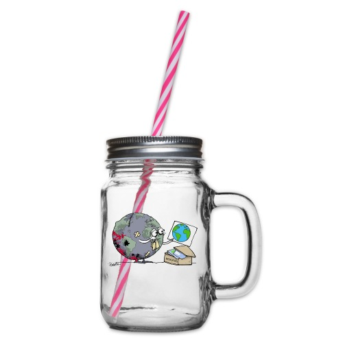 Memories - Glass jar with handle and screw cap