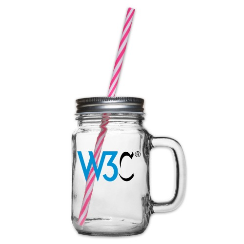 w3c - Glass jar with handle and screw cap