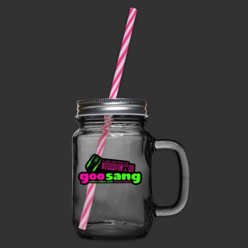 goosang logo - Henkelglas mit Schraubdeckel