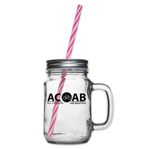 ACAB ALL CYCLISTS - Henkelglas mit Schraubdeckel