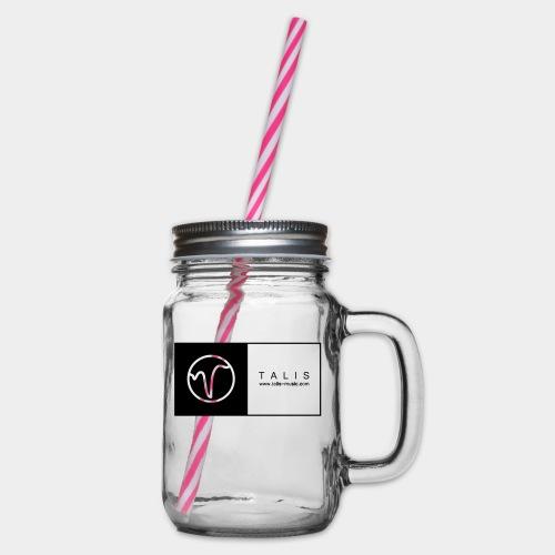 TALIS (2Quadrate) - Henkelglas mit Schraubdeckel