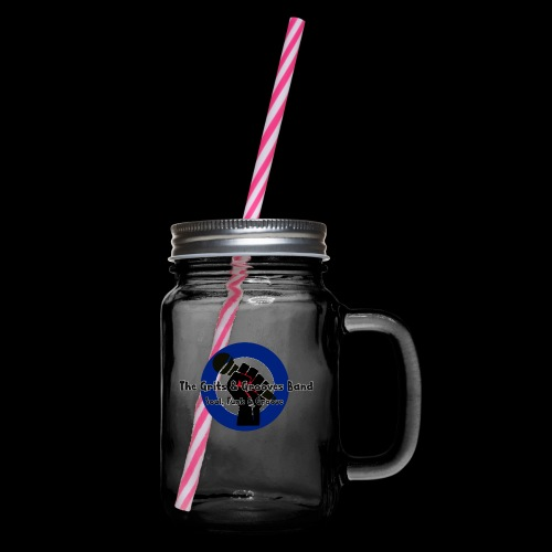 Grits & Grooves Band - Glass jar with handle and screw cap