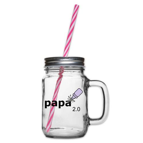 Papa_2-0 - Henkelglas mit Schraubdeckel